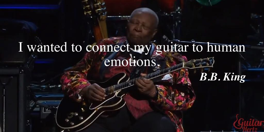 I wanted to connect my guitar to human emotions.