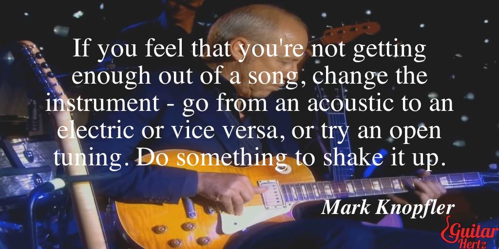 If you feel that you're not getting enough out of a song, change the instrument - go from an acoustic to an electric or vice versa, or try an open tuning. Do something to shake it up.