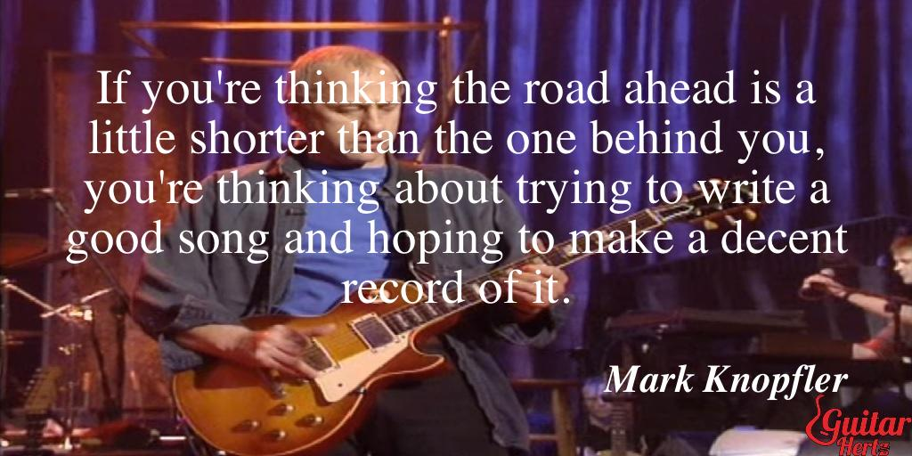 If you're thinking the road ahead is a little shorter than the one behind you, you're thinking about trying to write a good song and hoping to make a decent record of it.