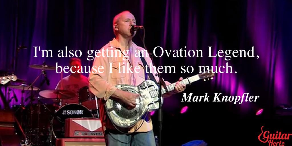 I'm also getting an Ovation Legend, because I like them so much.