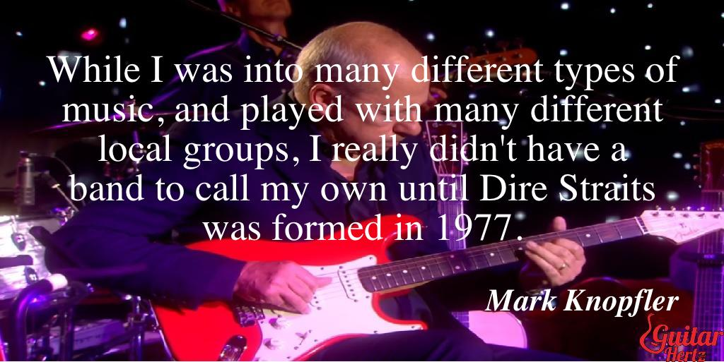 While I was into many different types of music, and played with many different local groups, I really didn't have a band to call my own until Dire Straits was formed in 1977.