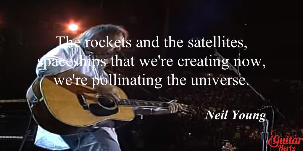 The rockets and the satellites, spaceships that we're creating now, we're pollinating the universe.