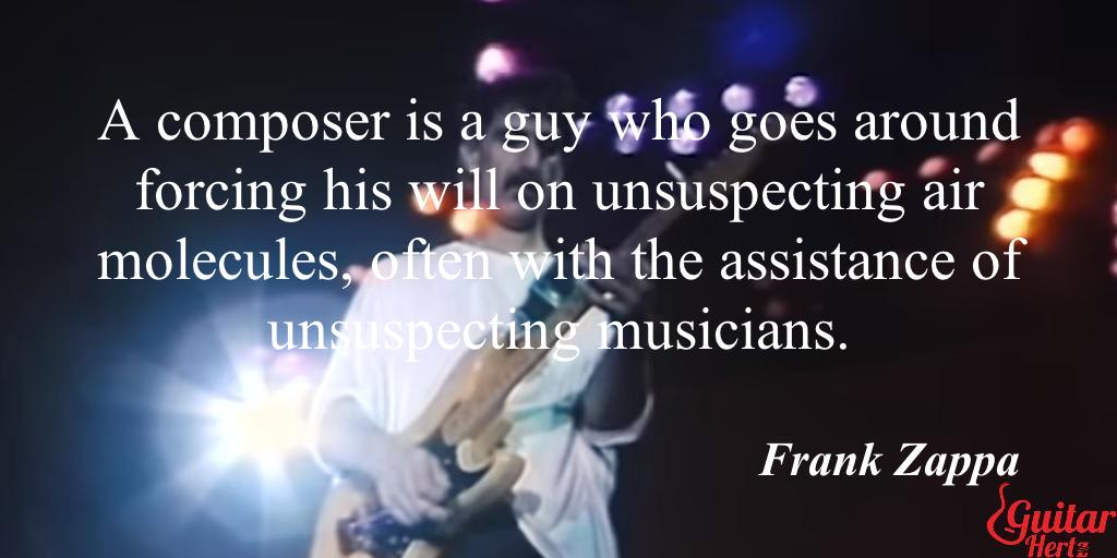 A composer is a guy who goes around forcing his will on unsuspecting air molecules, often with the assistance of unsuspecting musicians.