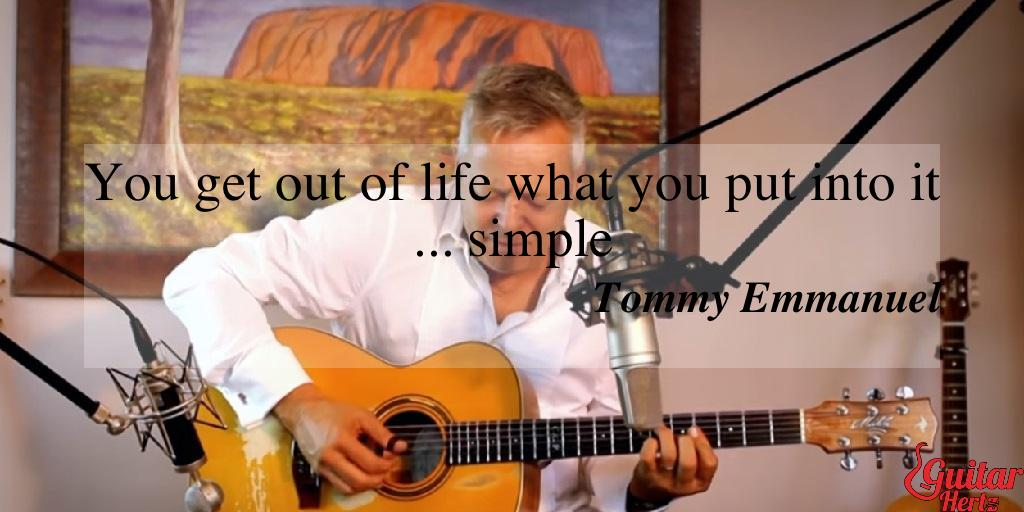 You get out of life what you put into it ... simple