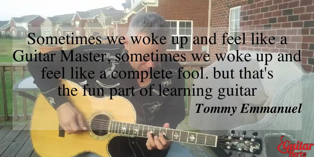 Sometimes we woke up and feel like a Guitar Master, sometimes we woke up and feel like a complete fool. but that's the fun part of learning guitar