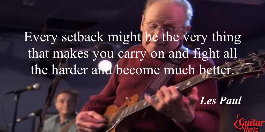Every setback might be the very thing that makes you carry on and fight all the harder and become much better.