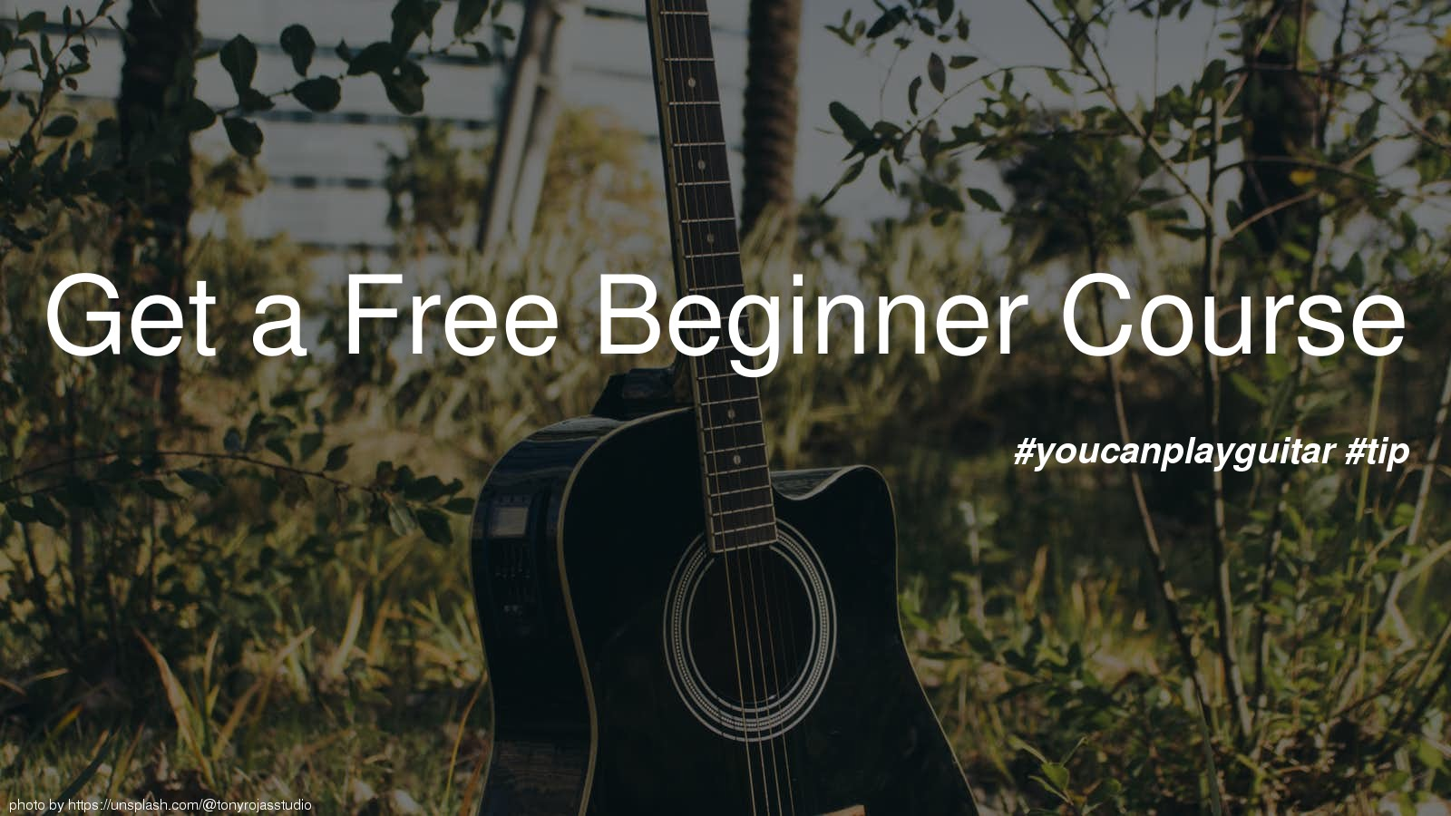 Get a Free Beginner Course