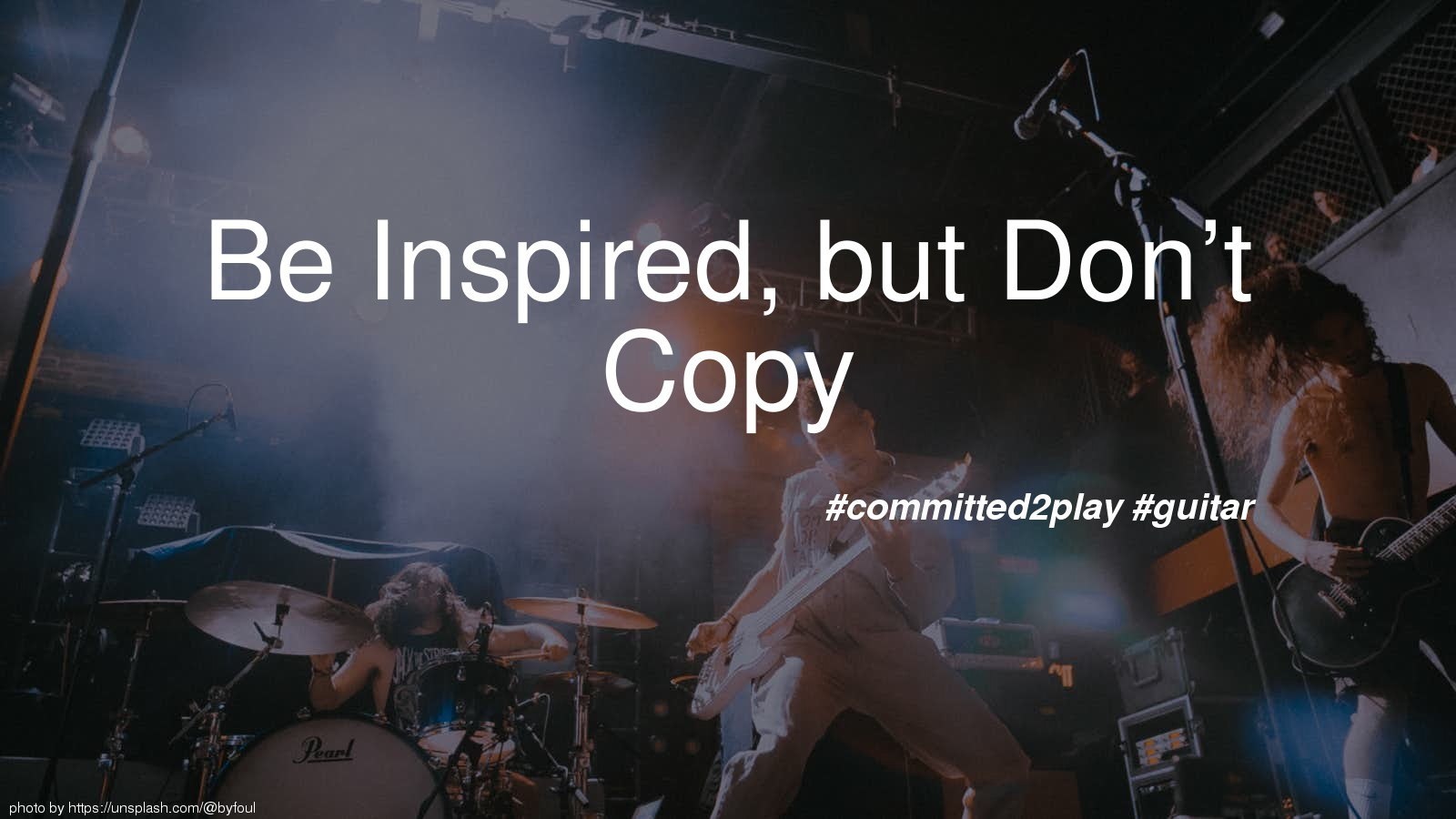 Be Inspired, but Don't Copy