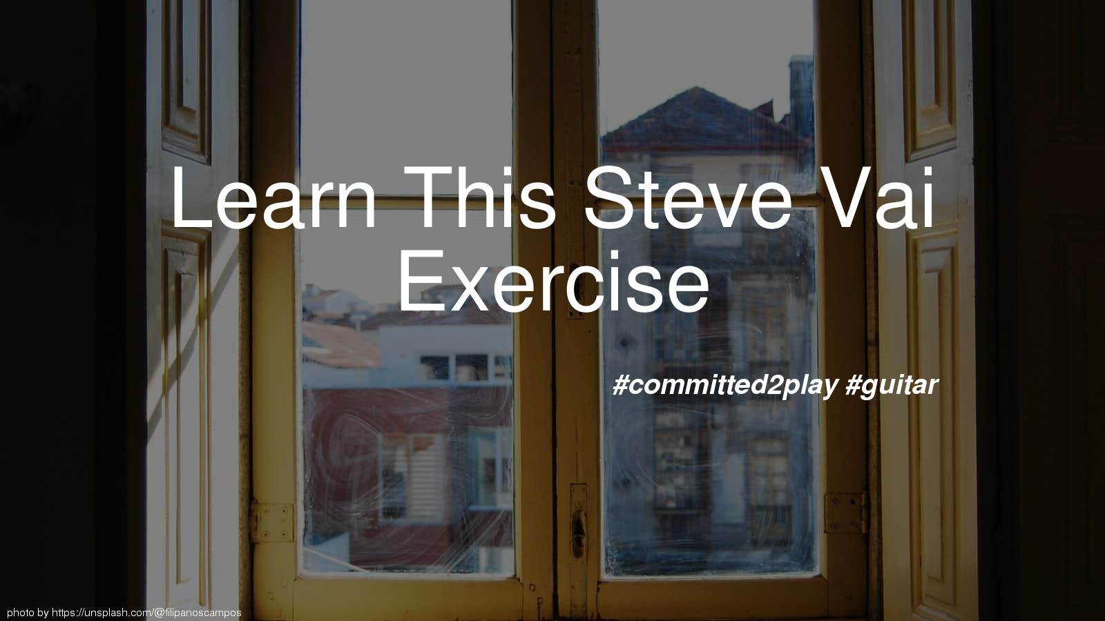 Learn This Steve Vai Exercise