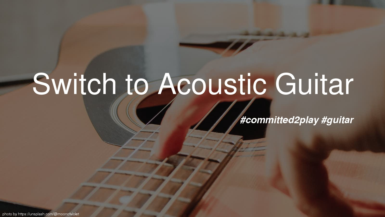 Switch to Acoustic Guitar